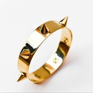 Spike Gold Handmade Bangle Bijoux